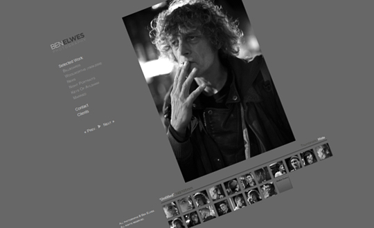 Portfolio site, Ben Elwes london based freelance photographer